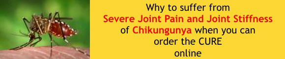 Homeopathy cure for Chikungunya joint pain and stiffness